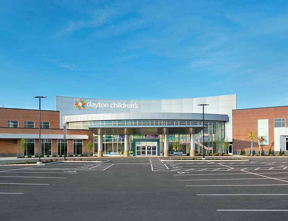 Dayton Children's Child Health Pavilion construction extrior