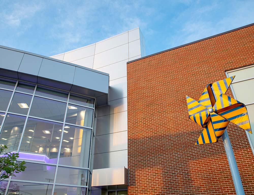Dayton Children's Child Health Pavilion exterior design detail
