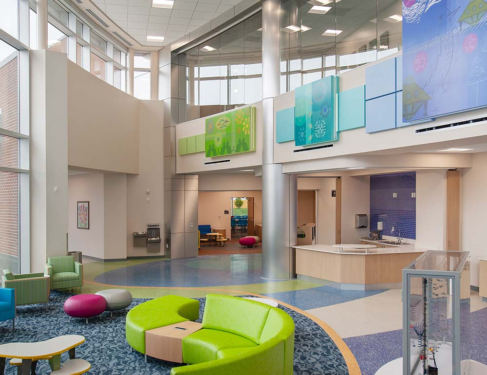 Dayton Children's Child Health Pavilion Common Space