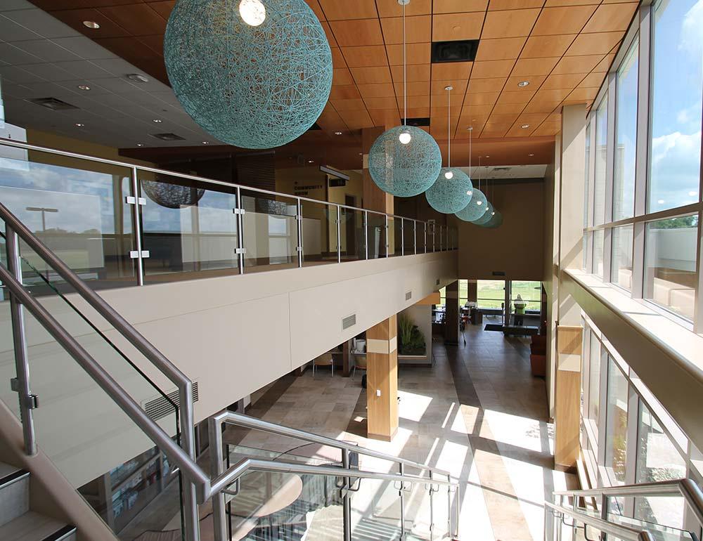 Springboro Health Center Stairway Hall interior design
