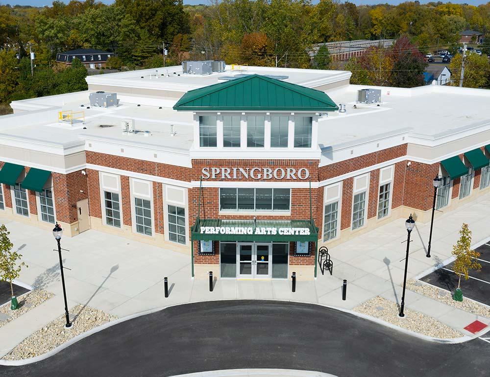 Springboro Performing Arts Center exterior design